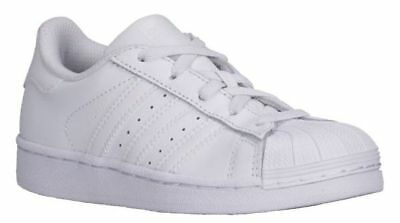5c3ac32b075 ADIDAS SUPERSTAR MONO White 088259 Leather Preschool KIDS Shoes ...