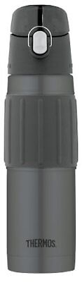 Thermos Vacuum Insulated 18 Ounce Stainless Steel Hydration Bottle Charcoal Bar