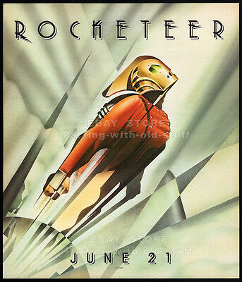 THE ROCKETEER__Original 1991 print AD movie promo__JENNIFER CONNELLY__ALAN ARKIN