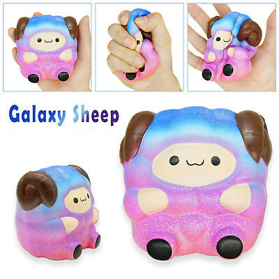 Jumbo Sheep Squishy Cute Galaxy Rainbow Alpaca Super Slow Rising Scented Toy CE