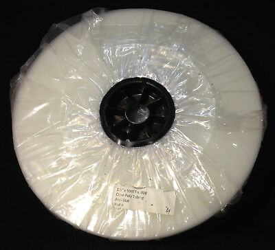 """500 ft Roll - Clear Poly Tubing Anti-Static- 1.5"""" x 8mil - Packaging Custom Bags"""