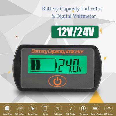 12V/24V Digital LCD Lead-Acid Battery Percentage Voltmeter Voltage Meter Display