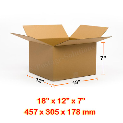 18x12x7 Inches Single Wall Brown Corrugated Cardboard Postal Mailing Boxes