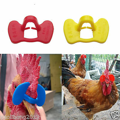 10-100PCS Pinless Chicken Peepers Pheasant Poultry Blinders Spectacles