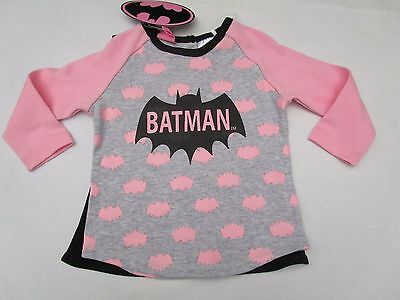 Baby girls Batgirl long sleeve tee top with cape Size 0