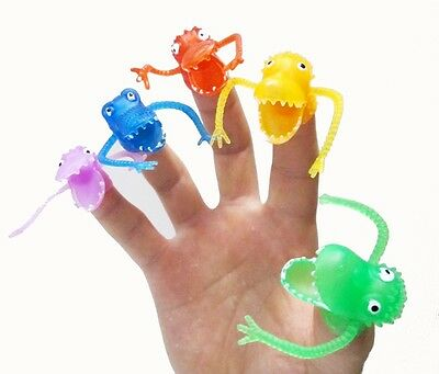 5Pcs Finger Puppets Plastic Dinosaur Finger Toys Mini Gashapon Kids Toy Cute New