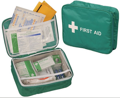 Vehicle First Aid Kit in Nylon Case - Travel Home Car Van Holiday Sport  K366T