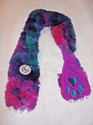 Girl's SO Monster Claw Purple Combo Scarf - One Size Fits Most -  New with Tags
