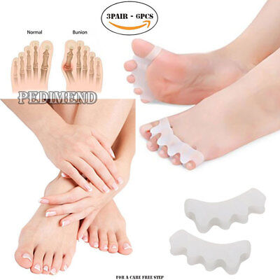 PEDIMEND™ Silicone 5 Hole Toe Stretcher For Bunion Pain Relief (3PAIR) - UNISEX