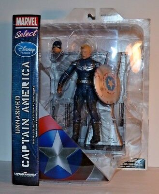 MARVEL SELECT Captain America Movie FIGURE DIAMOND Disney Store Exclusive