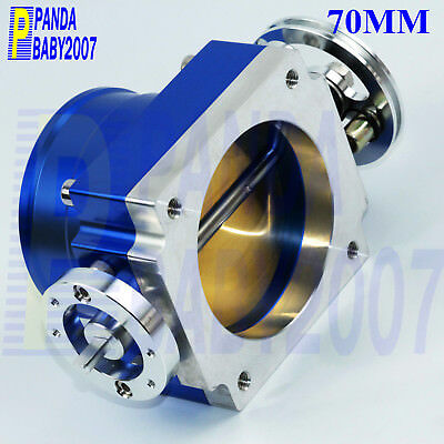 """BLUE UNIVERSAL 2.75/"""" 70mm FLANGE AIR FILTER FOR INFINITI SHORT//COLD AIR INTAKE"""