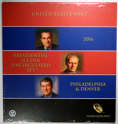 2016 Presidential Dollar P&d 6 Coin Uncirculated Mint Set ~ Sealed & Unopened!