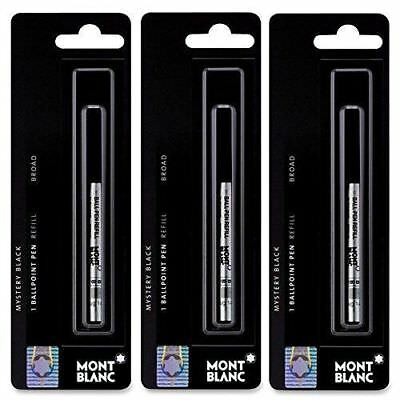 3 - Montblanc Ballpoint Pen Refills - Mystery Black - Broad Point