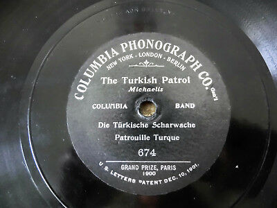 "78rpm 10"" 1 sided Pattuglia Turca The Turkish Patrol Michaelis  674 Columbia 190"
