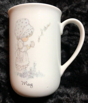 Precious Moments May month mug Birthday Girl Bonnet Butterfly by Enesco