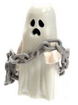 LEGO Glow in the Dark Ghost Minifig with  Chain NEW Halloween