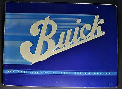 1934 Buick Prestige Catalog Brochure Series 40 50 60 90 Excellent Original 34