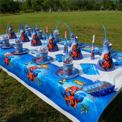 Spiderman Theme Kids Birthday Party Decor Supplier Boys Favor Tableware Napkins