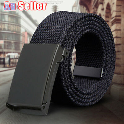 Heavy Duty Army Belt Outdoor Rigger Military Tactical Quick-Release Metal Buckle