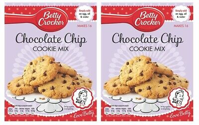 Two Betty Crocker Cookie Mixes Chocolate Chip 200g / total 400g perfect cookies