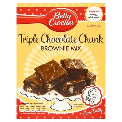 Betty Crocker Triple Chocolate Chunk Brownie Mix 415g
