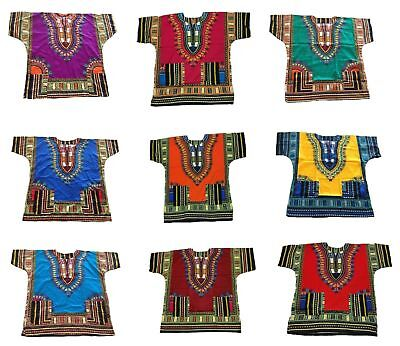 100% Cotton Men Women Kaftan Dashiki African Festival Hippie Poncho T Shirt Long