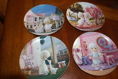Precious Moments Classic Plate Collection LOT of Four Hamilton
