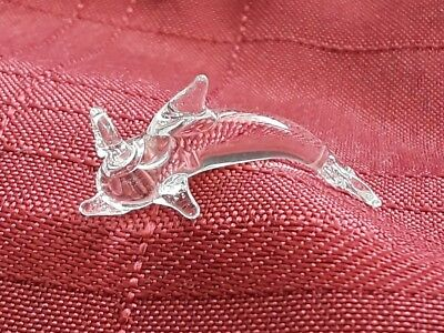 hanging dolphin animal ornament crystal figurine blown glass art