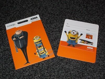 Despicable Me 3 Plastic Empty Gift Card/voucher Collectable