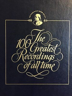 The 100 Greatest Recordings of all Time Franklin Mint Near Complete Set 1-100