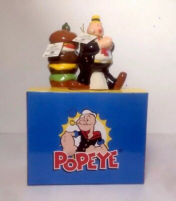 Wimpy & Hamburger of POPEYE Magnetic Salt & Pepper Shakers Westland New in Box