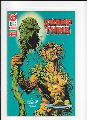 Swamp Thing #66 Higher Grade (8.5/9.0) Dc Copper Veitch