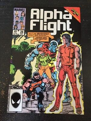 "Alpha Flight#28 Incredible Condition 9.2(1985)Hulk""Secret Wars 2"" Byrne Art!!"