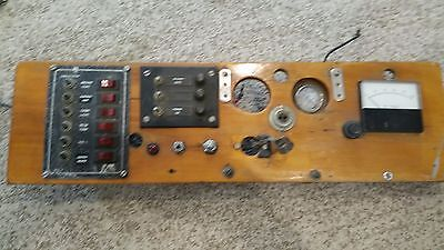Antique Timber Boat Dashboard all intact great condition