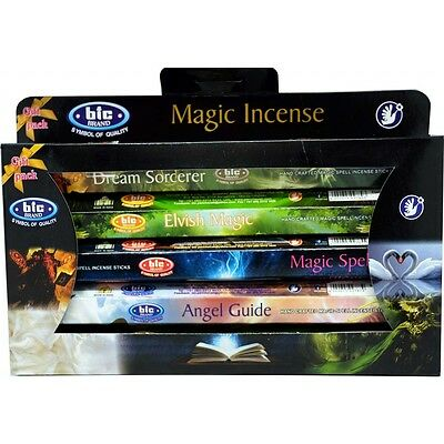 Bic MIXED MAGIC BULK INCENSE STICKS - 5 Packets - 75 Sticks Gift Set