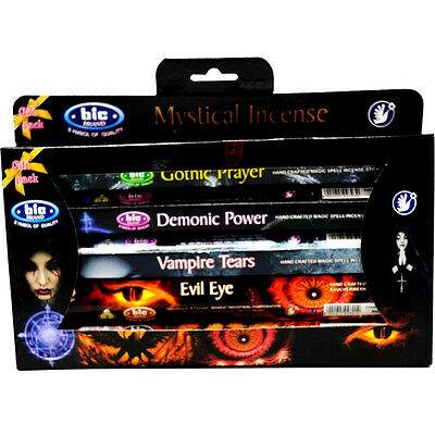 Bic MIXED MYSTICAL BULK INCENSE STICKS - 5 Packets - 75 Sticks Gift Set