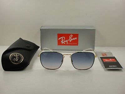 4ace1ef81c Ray-Ban Sunglasses Rb3588 9063I9 Grey   Gold Frame blue Gradient Lens 55Mm  New