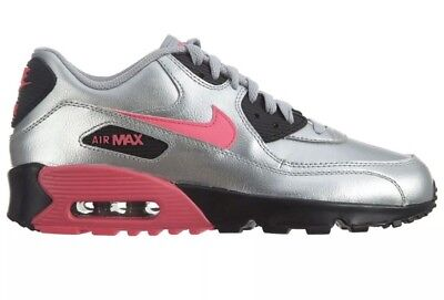 the best attitude b6e40 05e94 Nike Air Max Youth Girl 90 LTR GS 833376 004 Silver Pink Black Shoes Sz 5.5