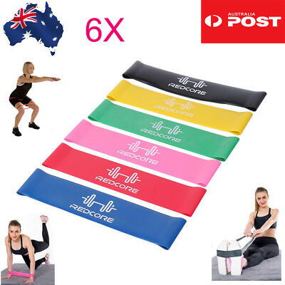 Resistance Bands Set of 6 for Exercise Men and Women Legs Arms Booty Yoga Physio