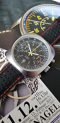 Vintage Racing Meister Anker Valjoux 7734 Ralleye Xxl Chronograph