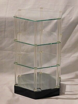 Vintage Hexagon 3 Tier Glass Curio Display