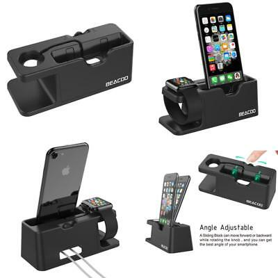 Charging Dock Stand Station Charger Holder For Iwatch Iphone 7/6/5 For  Apple Wa
