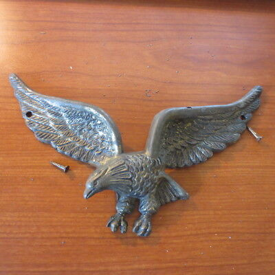 Vintage Cast Iron American Bald Eagle Wall Plaque 9'' Wing Span
