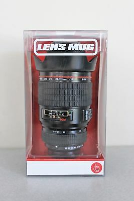 Thumbs Up! Camera Lens Mug Cup Gift with Cover Lid (Black) # HC1010 NEW !
