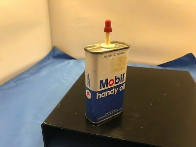 Mobil Oil Can Vintage  Mobil Oil Can Mobil Handy Oil W/ Oil Full
