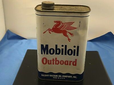 Mobil Oil Can Vintage Mobil Socony Oil Outboard Motor Oil Mobil Can Mobil Full