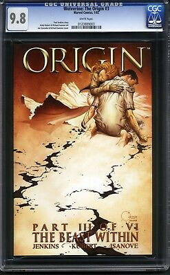 Wolverine: The Origin 3 CGC 9.8 NM/MT with White Pages