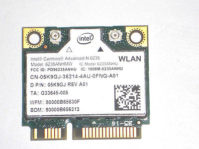 Dell Latitude E6540 Genuine Laptop Wireless Bluetooth Wi-Fi Card 5K9GJ 05K9GJ
