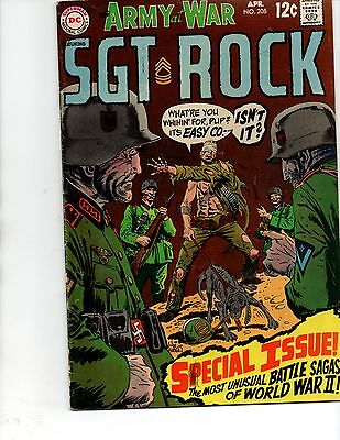 Our Army At War #205(DC 1969)reprints/no rock-animal war stories-FN+