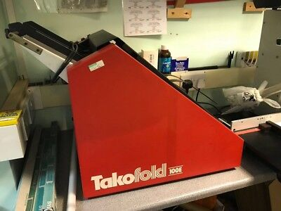 TAKOFOLD 100E Letter Folder / Paper Folding Machine - Booklet Maker